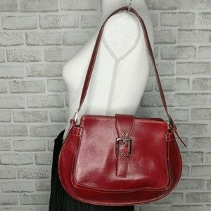 A. Giannetti Purse Red w/ White Stitching